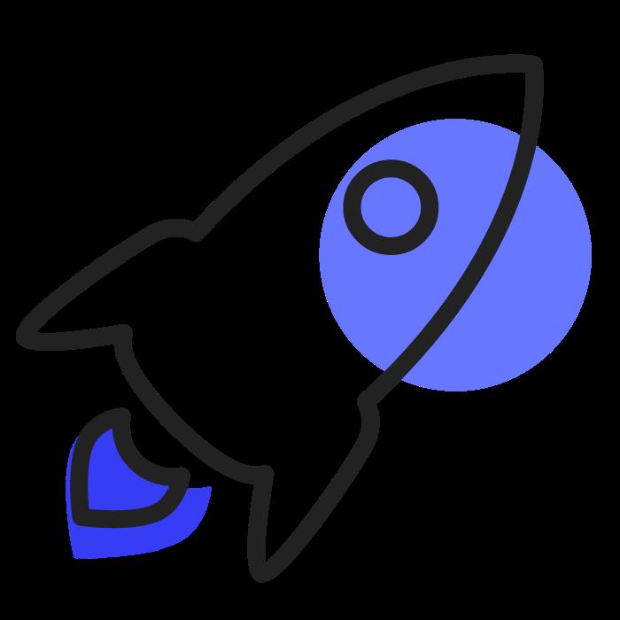 fusee bleu sombre